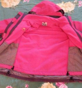Куртка +флисовая кофта 2 в 1.