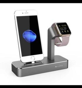 Подставка под Apple Watch и IPhone