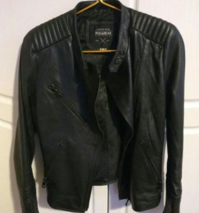 Куртка из натуральной кожи PullBear