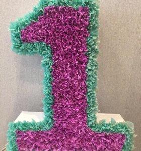 Цифра 1 для праздника