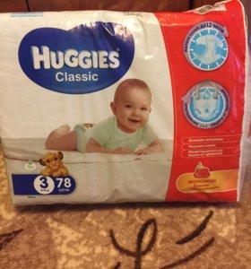 Подгузники Huggies Classic 3 (4-9 кг) 78 шт.