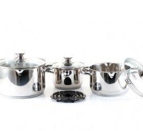 Gipfel набор посуды новый 7предметов кастрюля