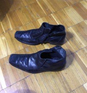 Туфли кожаные димесезонные.