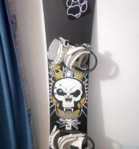 Комплект сноуборд и крепления