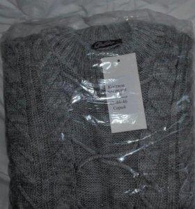 Новый вязаный фабричный костюм: туника и лосины