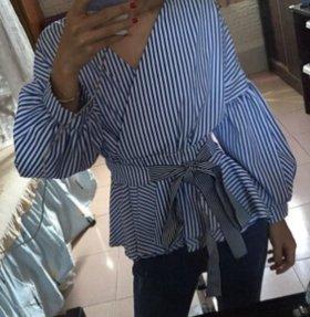 Блузка-рубашка S