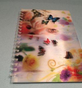 "Блокнот ""Цветы и бабочки"""