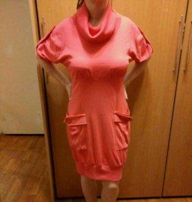 Платье трикотажное 46