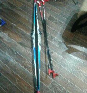 Лыжи+крепление+палки