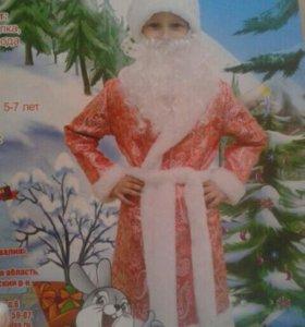 Новогодний костюм деда мороза .новый!