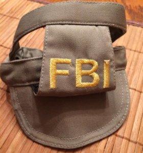 Кепочка  с нашивкой ФБР для маленькой собачки
