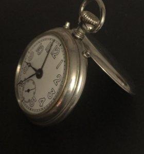 Карманные часы Юнганс с будильником