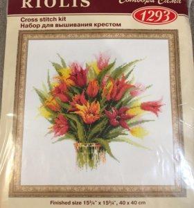 Набор для вышивки Риолис Тюльпаны в вазе