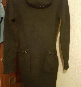 Платье-туника-свитер 44-46 новое 100%ангора