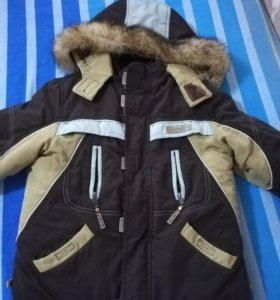 Зимняя куртка ОЛДОС рост 110 с подстёжкой