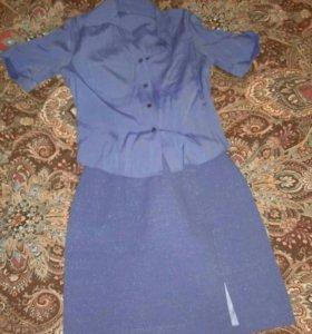 Юбка, блузка, костюм