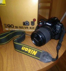 Зеркальный Фотоаппарат NIKON D90 18-105 VR Kit