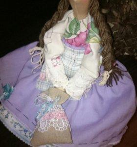 Кукла тильда интерьерная игрушка