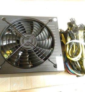 Блок питания 1600W для GPU фермы (майнинг риг)