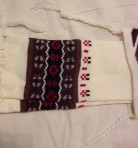 Комплект детский шарф+шапка новый