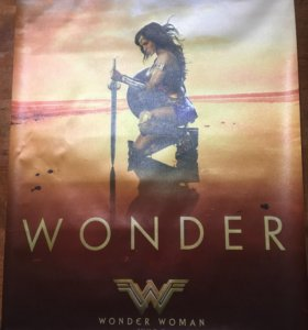 Плакат Wonder Woman. (Чудо-Женщина).