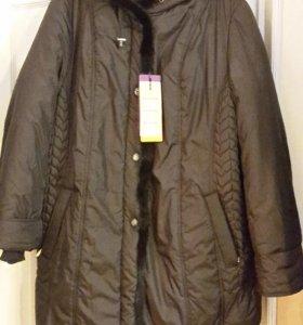 Куртка новая стеганая на зимнем синтепоне р.66