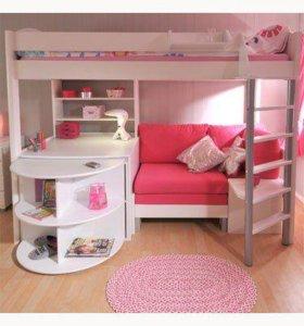 Детские двухэтажные кровати для девочек
