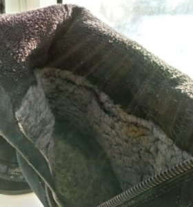 Замшевые сапоги на шпильке
