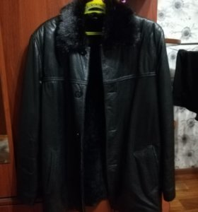 Коженное мужское пальто (VIERI XS)
