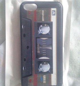 "iPhone 5c - чехол ""кассета""."
