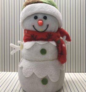 Новогодний светильник Снеговик для интерьера