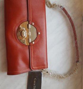 Новая сумка-клатч из натуральной кожи
