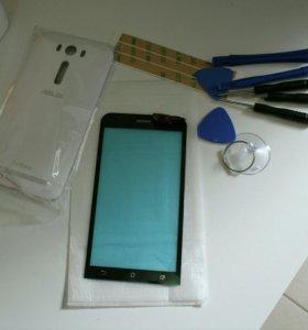 Сменное стекло и задняя панель на ASUS ZenFone 2