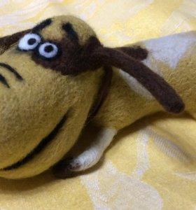Валяная игрушка собака Брут