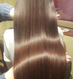 Ботокс волос, кератиновое выпрямление, лечение