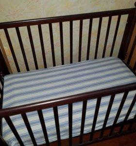 Кроватка детская и матрас