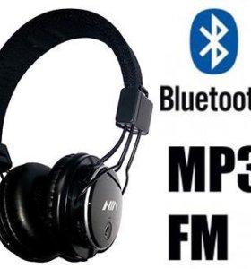Bluetooth наушники с MP3 и FM. NIA Q8-851S NEW