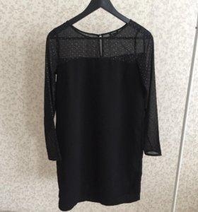 Черное платье шифон