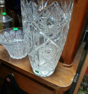Хрустальная ваза большая