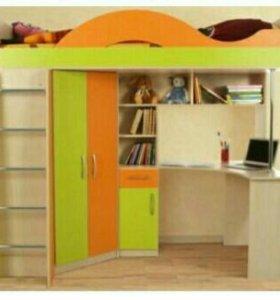Кровать чердак с рабочим местом