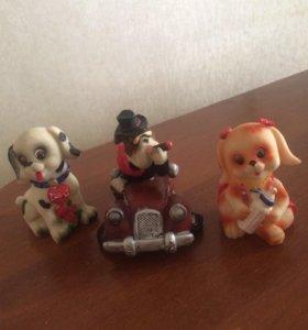 Символы 2018 года собаки из керамики