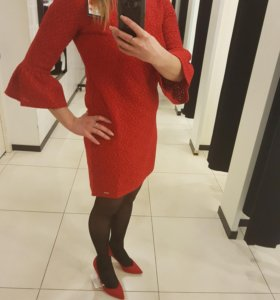 🎈🎁Красное платье + туфли. MOHITO