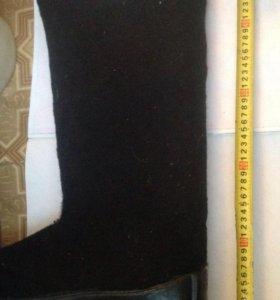 Валенки черные на резиновой подошве