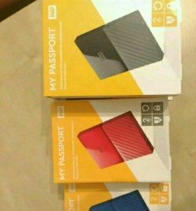 Переносной HDD, WD My passport , 2Tb.