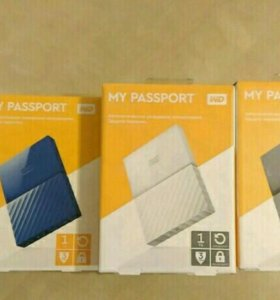 Переносной HDD, WD My passport , 1Tb.