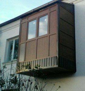 Металлопластиковые окна и двери, остекление балкон