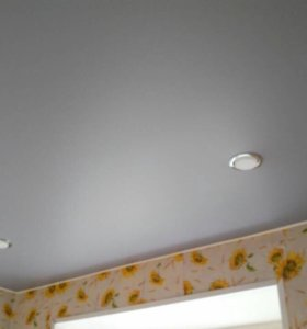 Белые матовые натяжные потолки
