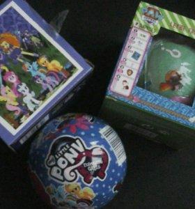 Игрушки в шарике пони и щенячий патруль