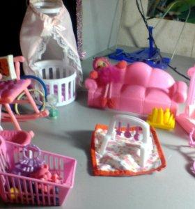 Детская спальня для кукол