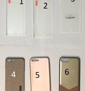 Чехол стекло iPhone 7+